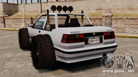 Jeep Futo Final para GTA 4 Vista posterior izquierda