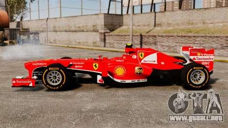 Ferrari F138 2013 v2 para GTA 4 left