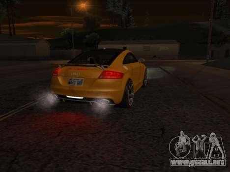 Audi TT RS Plus 2013 para la visión correcta GTA San Andreas