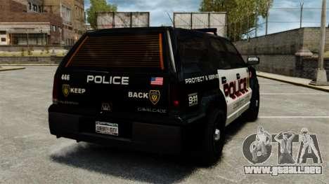 Cabalgata de patrulla para GTA 4 Vista posterior izquierda