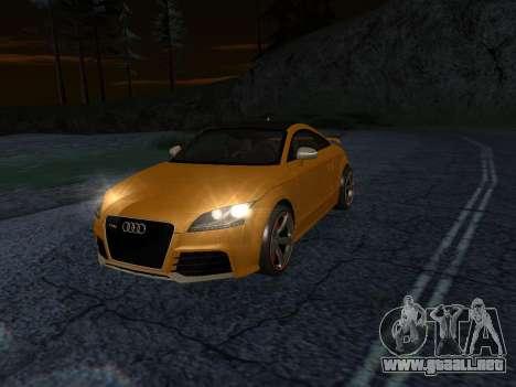 Audi TT RS Plus 2013 para GTA San Andreas vista posterior izquierda