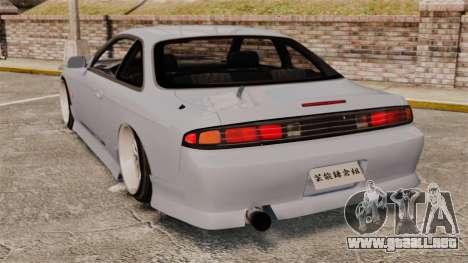 Nissan Silvia S14 para GTA 4 Vista posterior izquierda