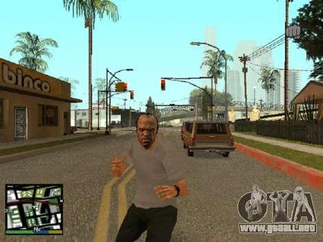 Trevor Philips de GTA 5 para GTA San Andreas segunda pantalla