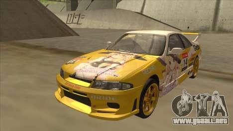 Nissan Skyline R33 Itasha para GTA San Andreas