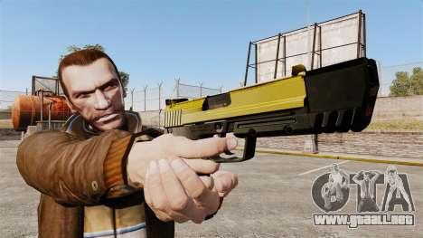 Pistola autocargable USP H & K v4 para GTA 4 tercera pantalla