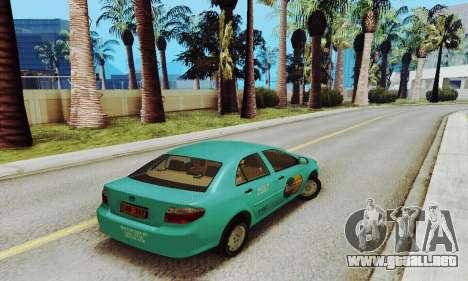 Toyota Corolla City Mastercab para GTA San Andreas vista posterior izquierda