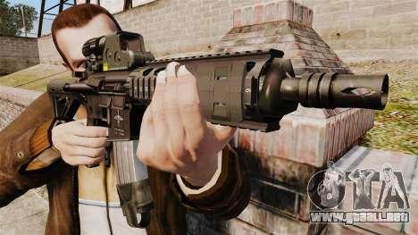 Carabina M4 CQC en el estilo de Modern Warfare para GTA 4 tercera pantalla