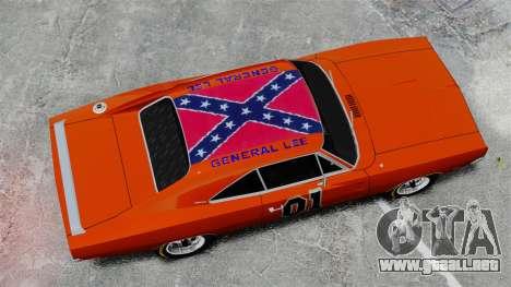 Dodge Charger 1969 General Lee v2 para GTA 4 visión correcta