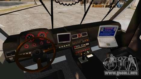 Camion Hydramax AERV v2.4-EX Manchester para GTA 4 vista interior
