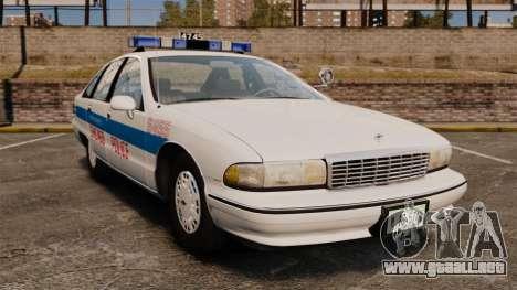 Chevrolet Caprice 1991 [ELS] v1 para GTA 4