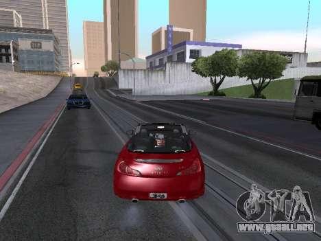 Infiniti G37 S Cabriolet para GTA San Andreas left