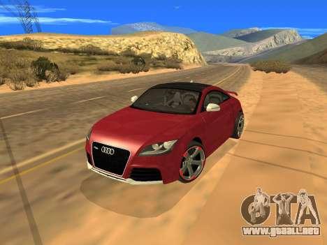 Audi TT RS Plus 2013 para GTA San Andreas vista hacia atrás