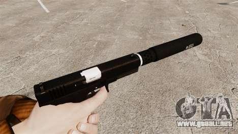 Glock 17 pistola autocargable v1 para GTA 4 segundos de pantalla