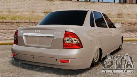 Priora Vaz-2170 para GTA 4 Vista posterior izquierda