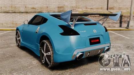 Nissan 370Z Tuning para GTA 4 Vista posterior izquierda