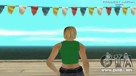 Grove Street Girl para GTA San Andreas segunda pantalla