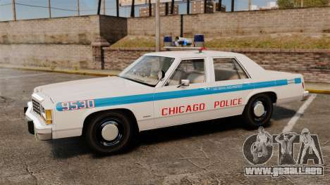 Ford LTD Crown Victoria 1987 [ELS] para GTA 4 left