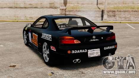 Nissan Silvia S15 v4 para GTA 4 Vista posterior izquierda
