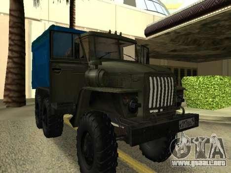 Ural 4320 Tonar para la visión correcta GTA San Andreas