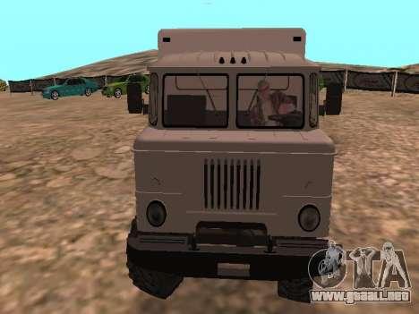 GAZ 66 ver para GTA San Andreas vista hacia atrás
