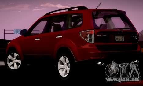 Subaru Forester XT 2008 v2.0 para GTA San Andreas left