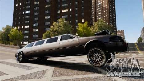 Limusina drag racing para GTA 4 vista interior