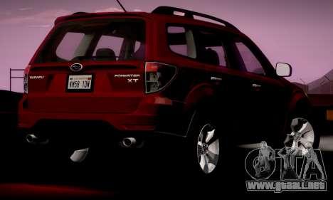 Subaru Forester XT 2008 v2.0 para GTA San Andreas vista posterior izquierda