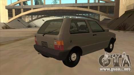 Fiat Uno 1995 para la visión correcta GTA San Andreas