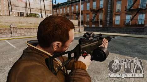 Rifle de asalto MG36 v3 H & K para GTA 4 segundos de pantalla