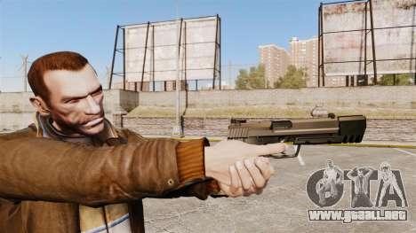 Pistola autocargable USP H & K v2 para GTA 4