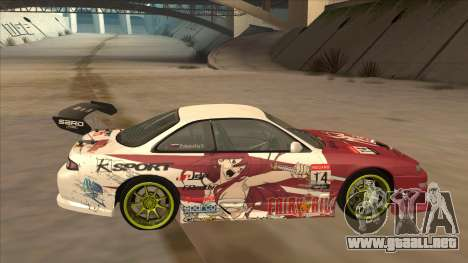 Nissan 200SX S14A Fairy Tail para GTA San Andreas left