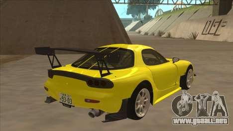 Mazda RX7 FD3S RE Amemyia Touge Style para la visión correcta GTA San Andreas