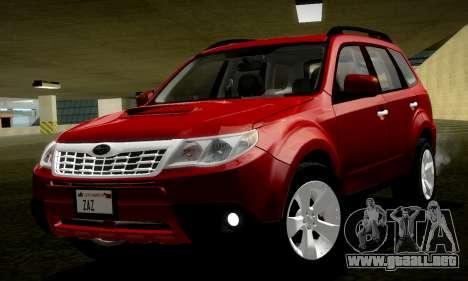 Subaru Forester XT 2008 v2.0 para la visión correcta GTA San Andreas