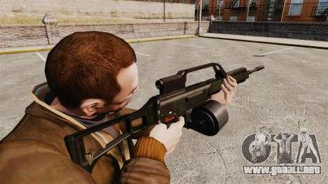 Rifle de asalto MG36 v1 H & K para GTA 4 segundos de pantalla