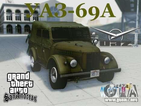 UAZ-69A para vista lateral GTA San Andreas
