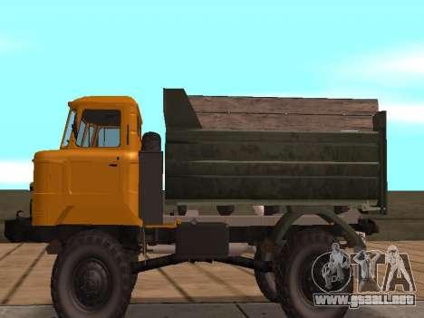 Camión de GAS-66 para GTA San Andreas vista posterior izquierda