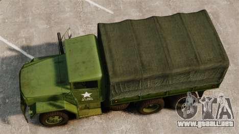 Militar básica del carro AM General M35A2 1950 para GTA 4 visión correcta