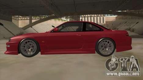 Nissan Silvia S14 RB26DETT Black Revel para GTA San Andreas vista posterior izquierda