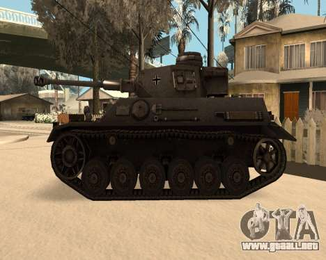 Panzerkampfwagen para GTA San Andreas left
