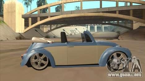 VW Beetle 1969 para GTA San Andreas vista posterior izquierda