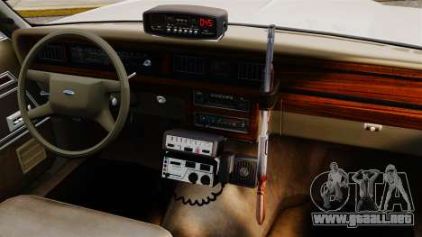Ford LTD Crown Victoria 1987 [ELS] para GTA 4 vista interior