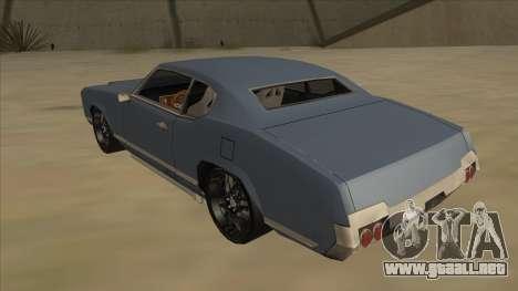 Tuned Sabre para GTA San Andreas vista hacia atrás