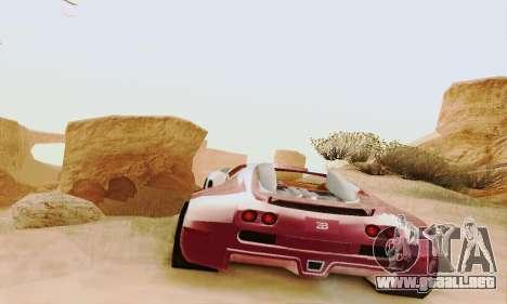 Bugatti Veyron 16.4 Concept para GTA San Andreas vista hacia atrás