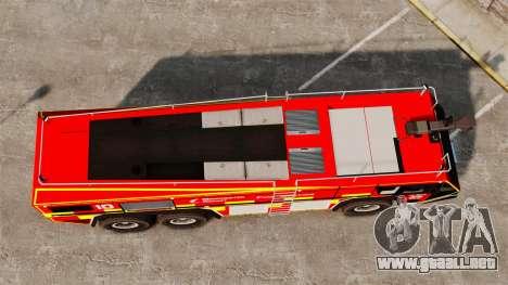 Camion Hydramax AERV v2.4-EX Manchester para GTA 4 vista hacia atrás
