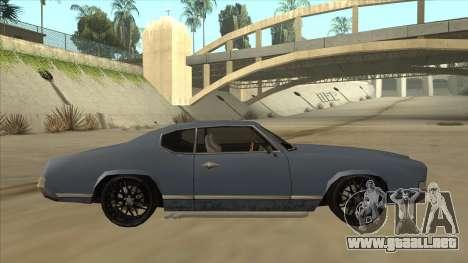 Tuned Sabre para GTA San Andreas vista posterior izquierda