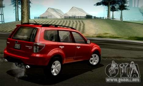 Subaru Forester XT 2008 v2.0 para la vista superior GTA San Andreas