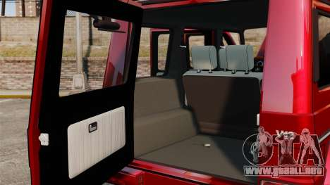 Mercedes-Benz G500 para GTA 4 vista interior
