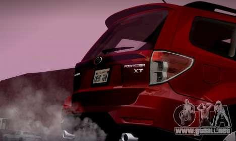 Subaru Forester XT 2008 v2.0 para GTA San Andreas interior
