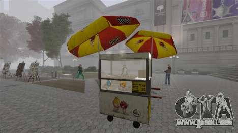 Los quioscos actualizados y carros calientes dog para GTA 4 octavo de pantalla