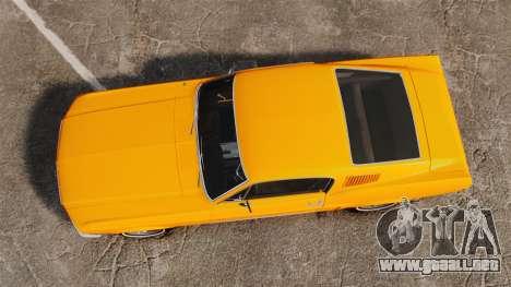 Ford Mustang 1967 Classic para GTA 4 visión correcta